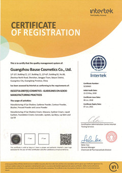 ISO certificate of Bause Cosmetics